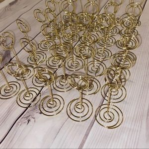 ♡ 35 Gold Table Number Holders ♡